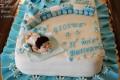 Torta decorata per un battesimo