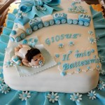 torta decorata battesimo