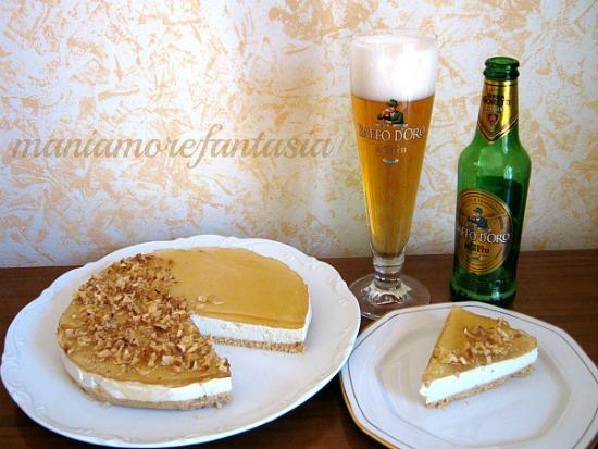 cheesecake birra e gorgonzola
