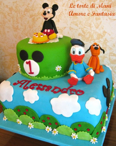 torta decorata topolino & friends