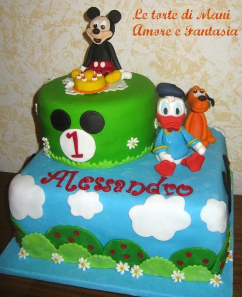 torta decorata topolino