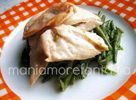 Torretta di pollo e fagiolini