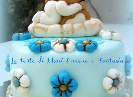 Sponge cake al cioccolato decorata stile Thun
