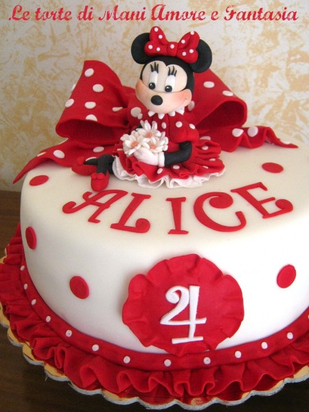 torta decorata minnie torte decorate torte disney. Black Bedroom Furniture Sets. Home Design Ideas