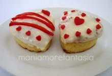 Muffin al parmigiano, decorati per S. Valentino