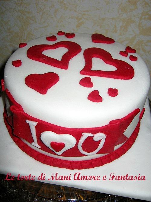 Torta s valentino decorazione semplice - San valentino decorazioni ...