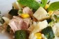 Risotto freddo con tonno e zucchine, quasi un'insalata di riso