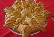 Una stella di pane come centrotavola natalizio