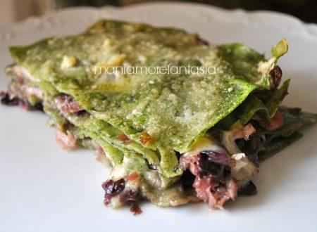 Lasagne verdi con radicchio rosso e speck
