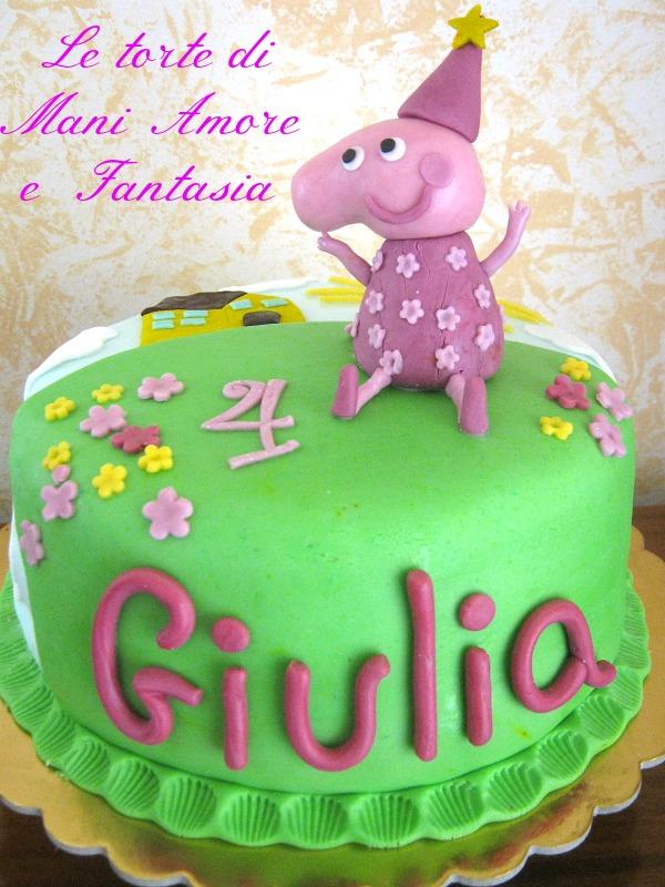 torta decorata peppa pig