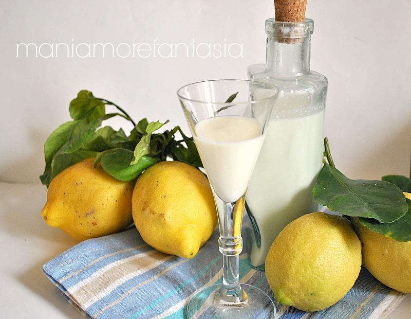 liquore siciliano al latte profumato al limone
