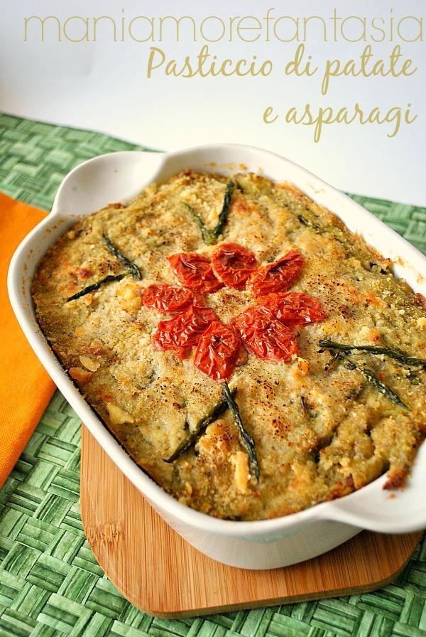 pasticcio con patate e asparagi, ricette con asparagi