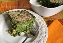 Sformato di riso e spinaci