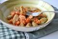 Gnocchi di carciofi ai gamberetti