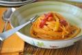 Pasta con crema ai peperoni