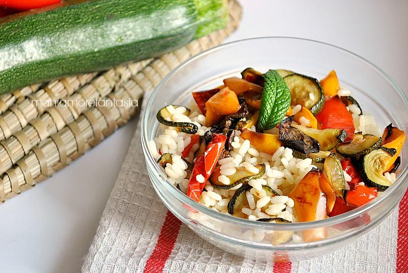 insalata di riso vegetariana, ricette light