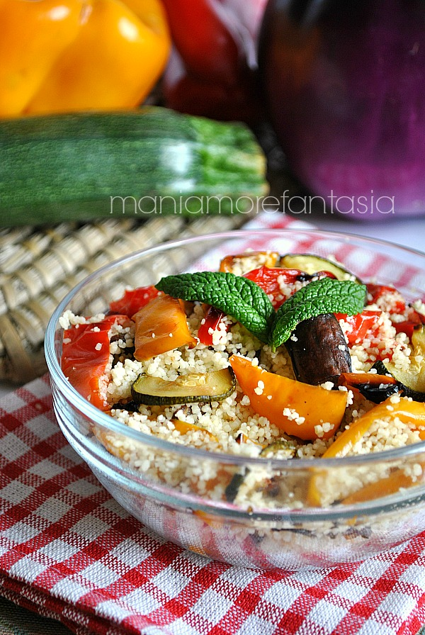 Couscous vegetariano con ortaggi estivi ricette light for Ortaggi estivi