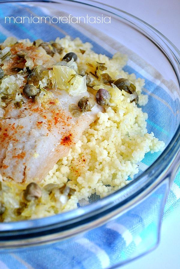 insalata di cuscus e merluzzo al limone