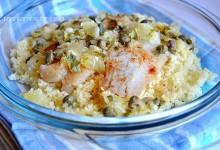 Filetti di merluzzo con couscous e salsa fredda al limone (relish), ricetta light