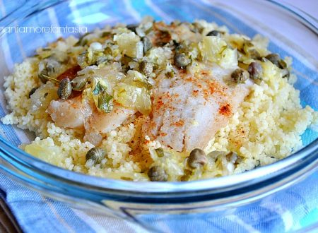 Filetti di merluzzo con couscous e salsa fredda al limone (relish), ricetta light
