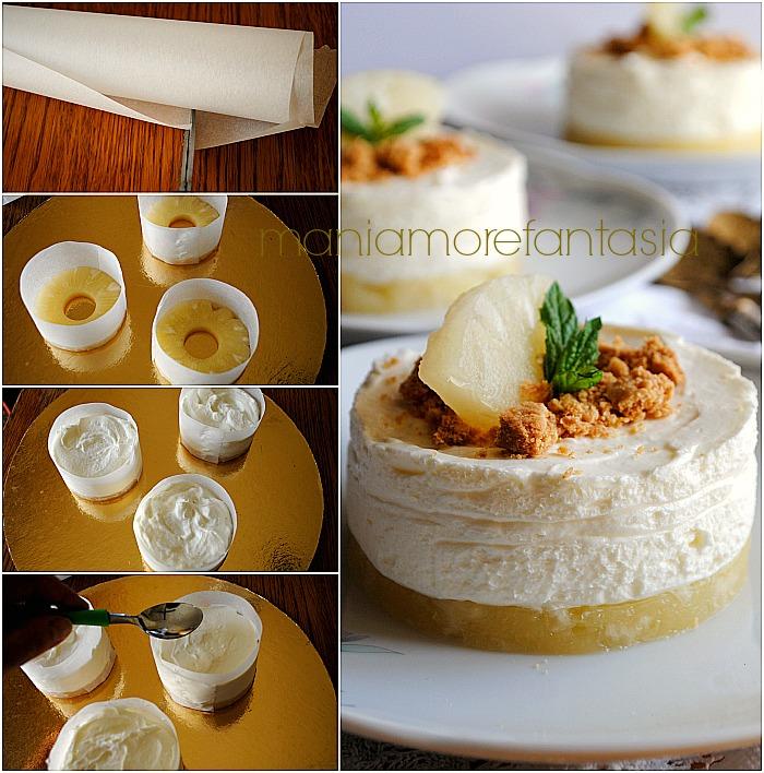 cheesecake all'ananas monoporzione