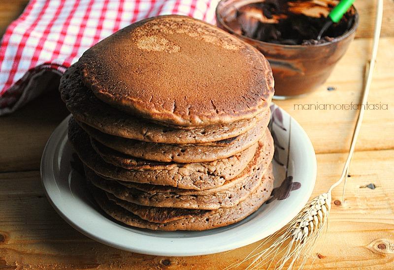 pancake con nutella nell'impasto