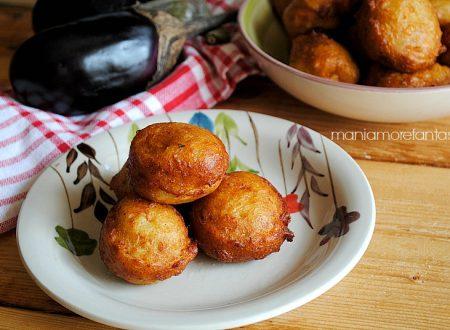 Frittelle di melanzane e patate, ricetta fingerfood