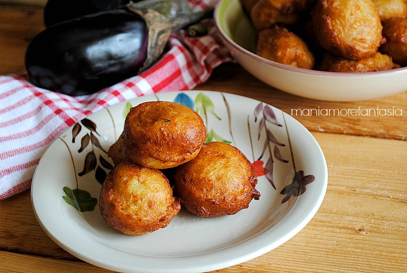 frittelle di melanzane e patate, fingerfood