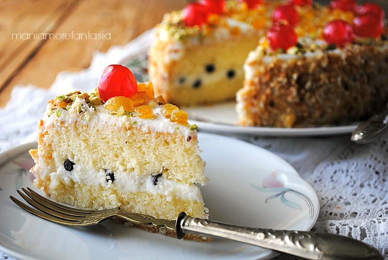torta siciliana con crema di ricotta