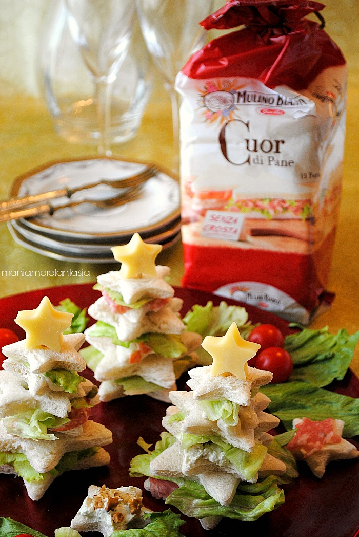 Alberelli di pancarr farciti ricetta antipasti natalizi for Antipasti natalizi ricette