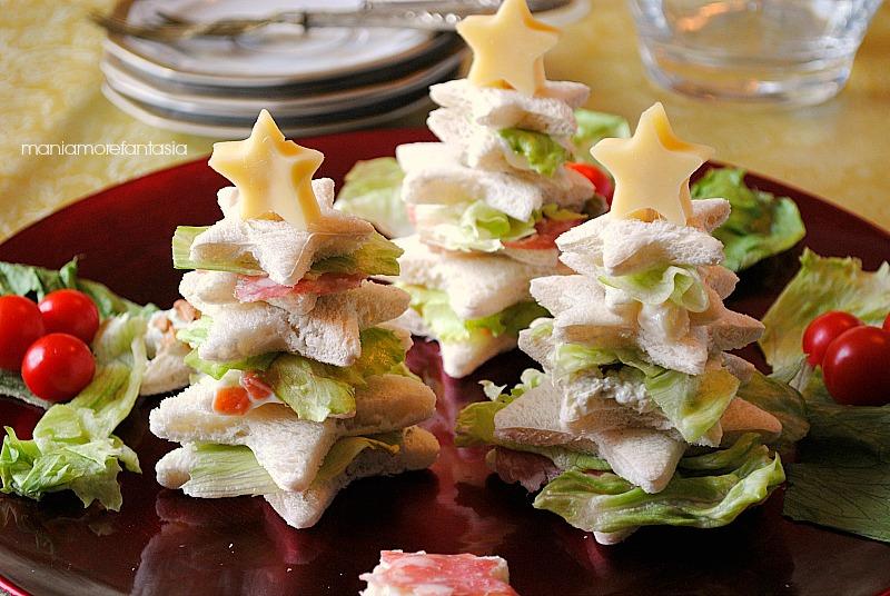Super Alberelli di pancarrè farciti, ricetta antipasti natalizi  TN91