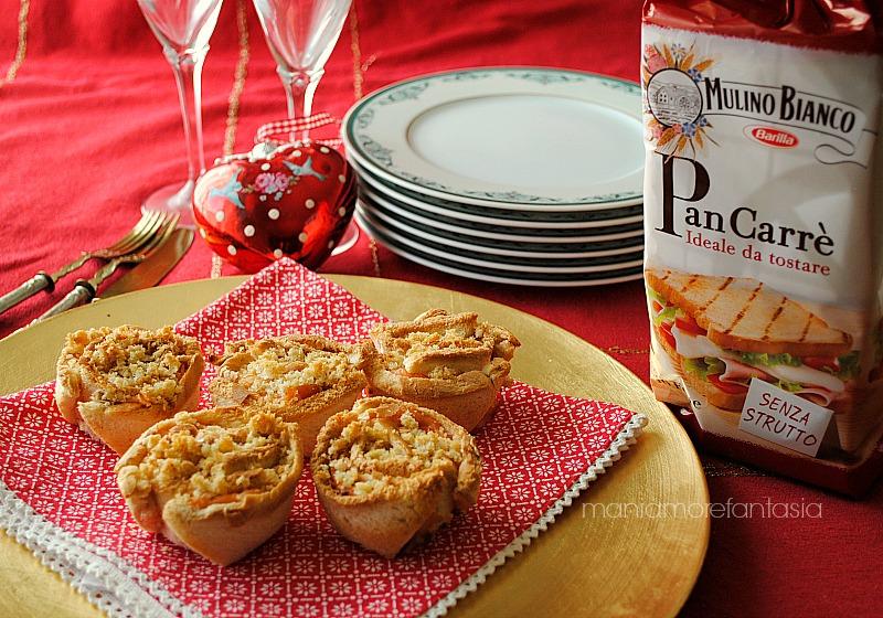 rose di pancarrè al salmone con panure allo zenzero, ricetta antipasti natalizi