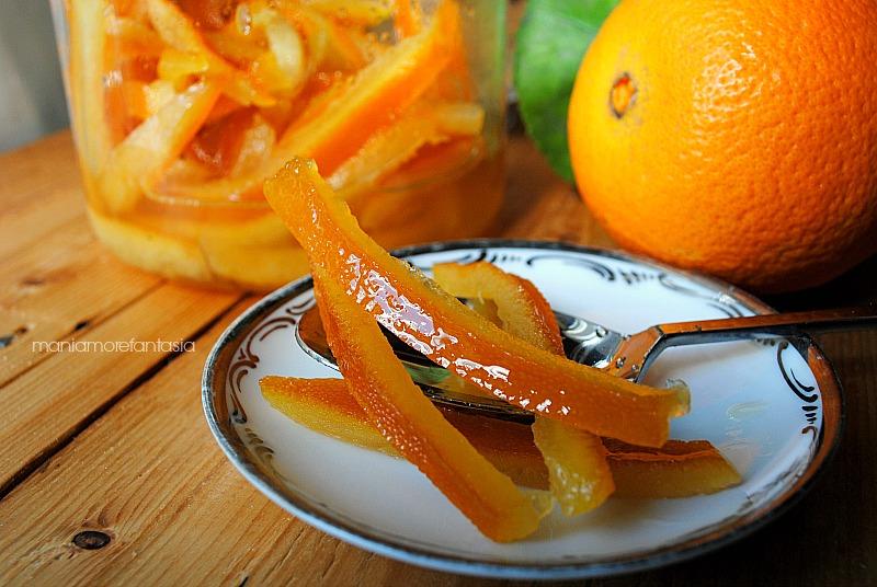 bucce d'arancia candite, ricetta veloce scorze d'arancia