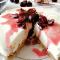 Cheesecake alle ciliegie e cioccolato bianco, senza gelatina