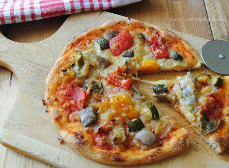 PIZZA VEGETARIANA CON ZUCCHINE, PEPERONI E MELANZANE!