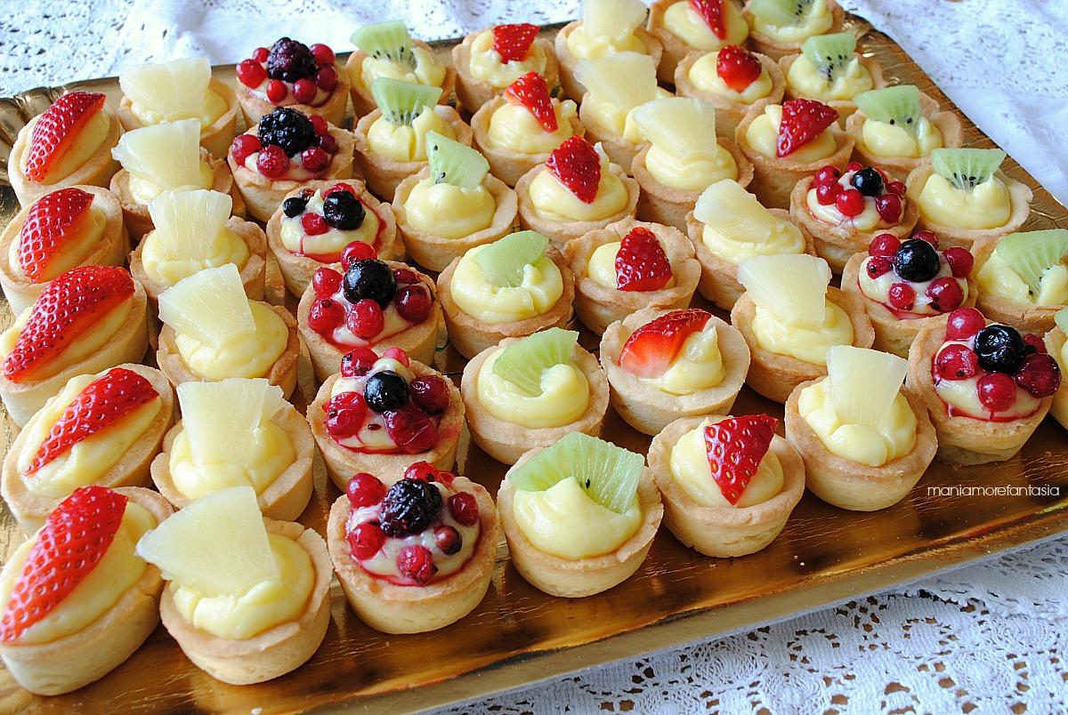 tartellette frutta e crema pasticcera