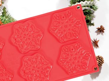 stampo snow pavonidea per biscotti e cioccolato