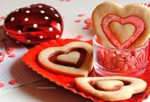 Biscotti San Valentino doppio cuore con vetrino