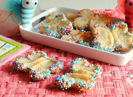 Ho visto le farfalle di pasta sfoglia tra i biscotti!