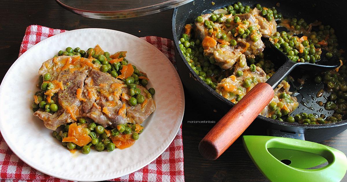 Ossobuco di tacchino con pisellini e carote
