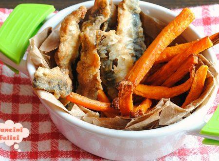 Pesce fritto e carotine, quasi fish and chips!