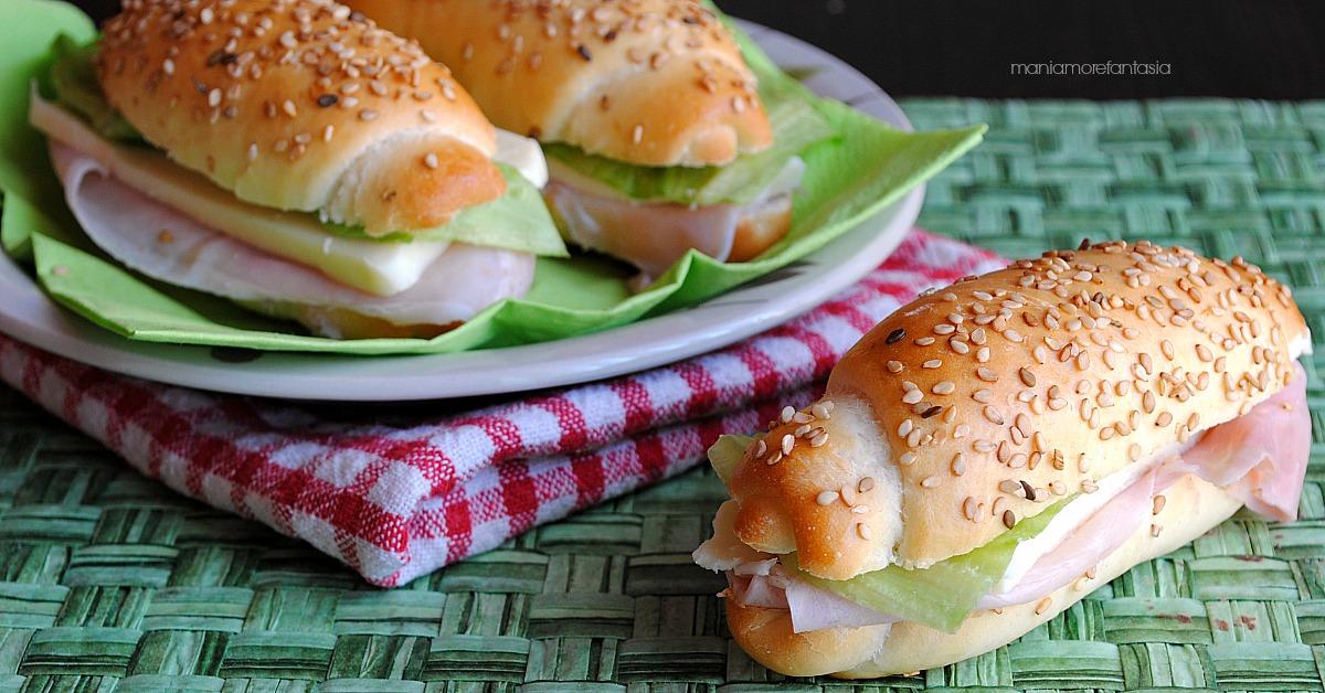 Panini sandwich da farcire, per aperitivi e buffet