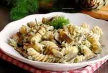 Pasta con carciofi, finocchietti e philadelphia