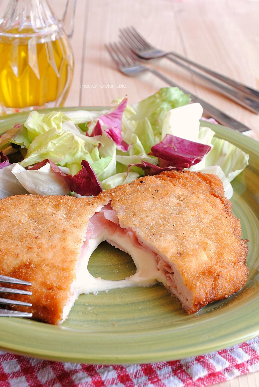 cordon bleu di pollo formaggio e prosciutto fatti in casa