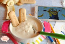Crema di yogurt e ricotta alla banana, merenda veloce