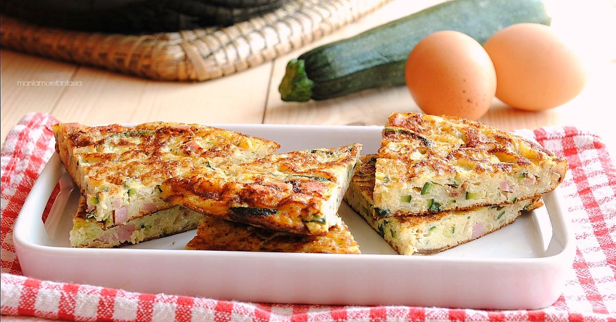 frittata zucchine e prosciutto