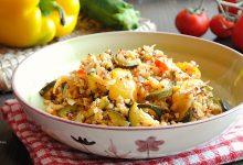 Insalata di quinoa e grano con verdure miste