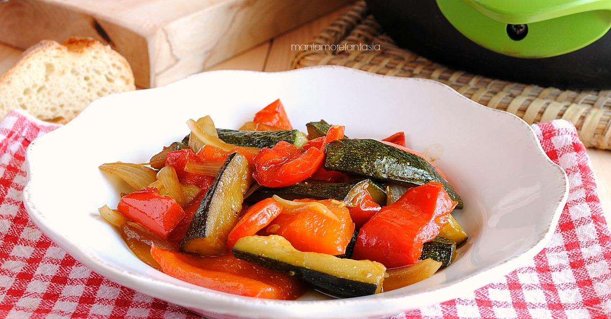 contorno di zucchine e peperoni al curry