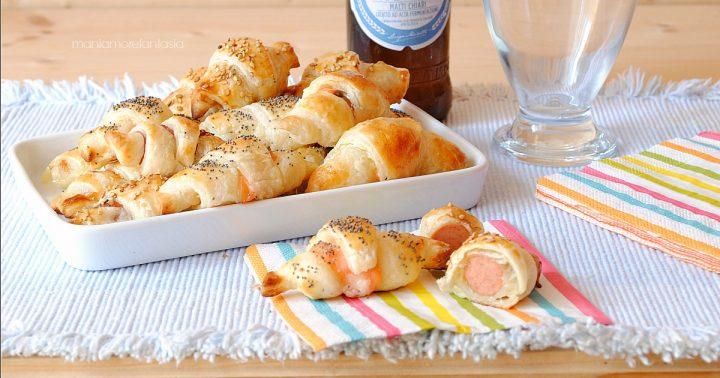 mini croissant salati stuzzichini di pasta sfoglia