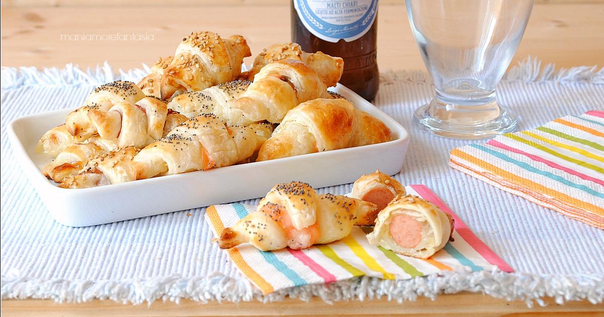 Stuzzichini di pasta sfoglia mini croissant quattro farciture for Stuzzichini di natale 100 idee per stupire